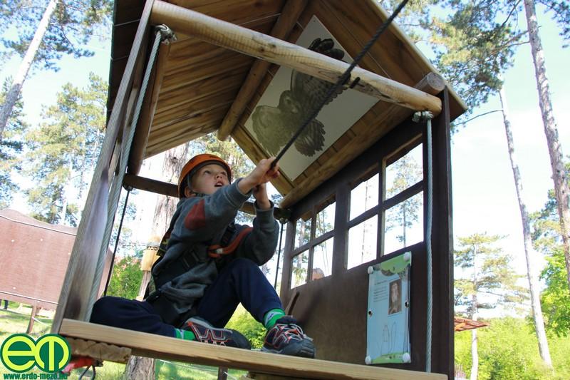 A Budakeszi Vadaspark kalandparkja
