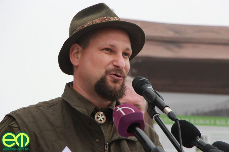 Mészáros Péter, a Pilisi Parkerdő Zrt. kommunikációs előadója
