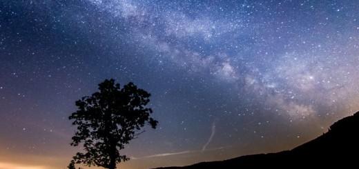 A Tejút látványa a Bükk-fennsíkról (Fotó: Bükki Nemzeti Park Igazgatóság)
